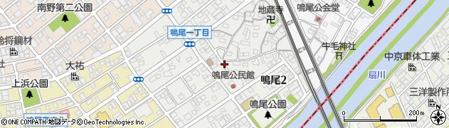 愛知県名古屋市南区鳴尾周辺の地図