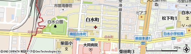 愛知県名古屋市南区白水町周辺の地図