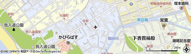 静岡県沼津市下香貫牛臥周辺の地図