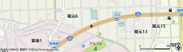 愛知県弥富市稲元町周辺の地図