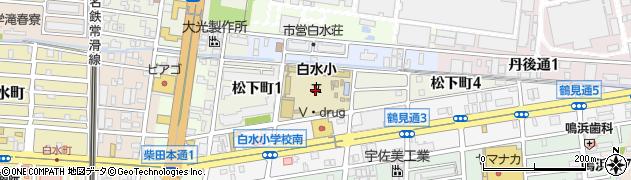 愛知県名古屋市南区松下町周辺の地図