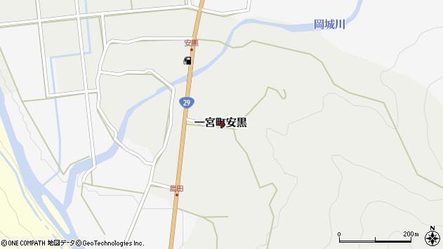 〒671-4135 兵庫県宍粟市一宮町安黒の地図