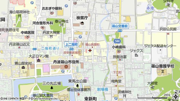 〒669-2322 兵庫県丹波篠山市呉服町の地図