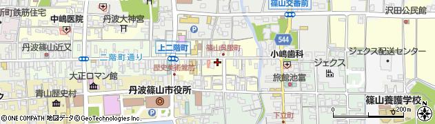 兵庫県丹波篠山市呉服町周辺の地図