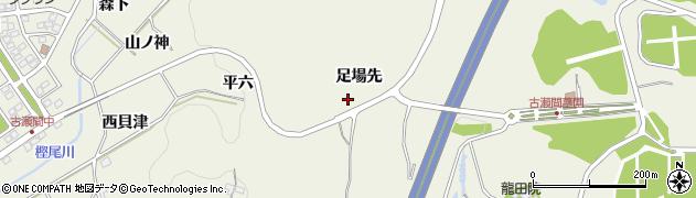 愛知県豊田市古瀬間町(足場先)周辺の地図