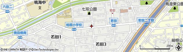 愛知県名古屋市緑区若田周辺の地図