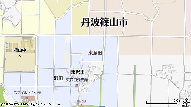〒669-2314 兵庫県丹波篠山市東沢田の地図