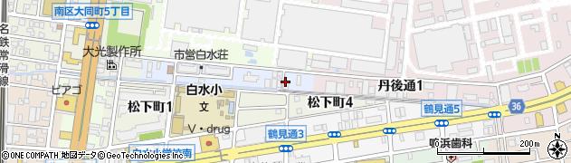 愛知県名古屋市南区鳴尾町周辺の地図