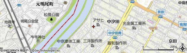 愛知県名古屋市緑区鳴海町(中汐田)周辺の地図