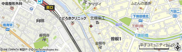 愛知県名古屋市緑区鳴海町(下中)周辺の地図