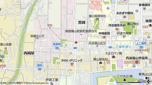 〒669-2336 兵庫県丹波篠山市魚屋町の地図
