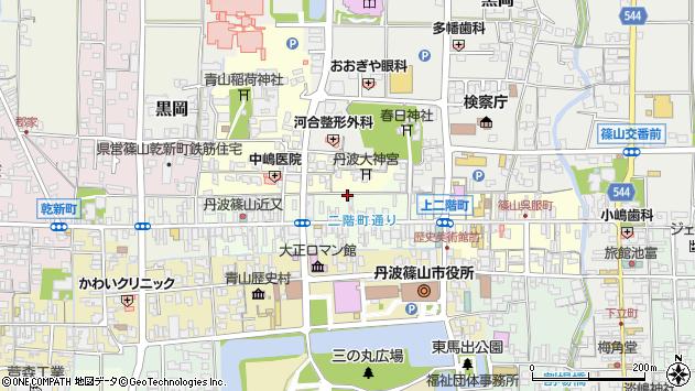 〒669-2331 兵庫県丹波篠山市二階町の地図