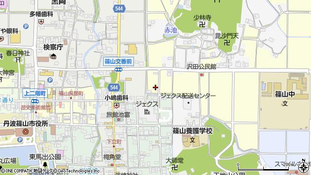 〒669-2316 兵庫県丹波篠山市前沢田の地図