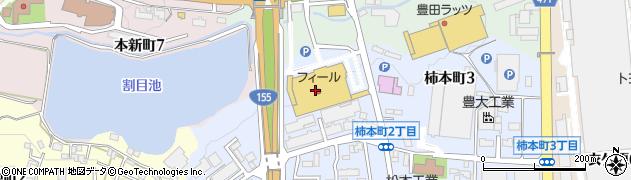スガキヤナフコリスタ店周辺の地図