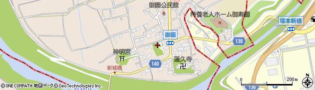 蔵六寺周辺の地図