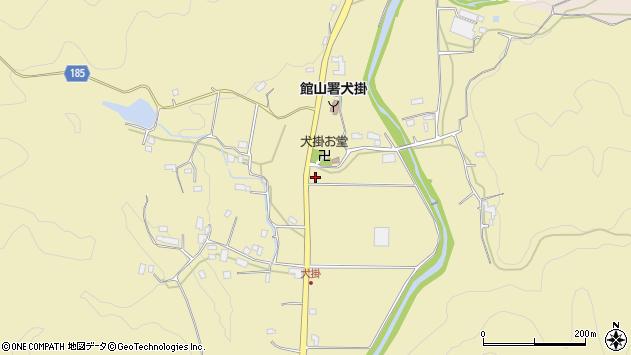〒299-2205 千葉県南房総市犬掛の地図