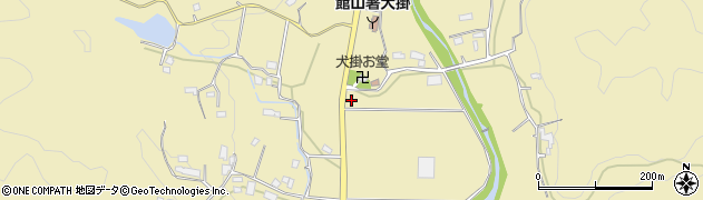 千葉県南房総市犬掛周辺の地図