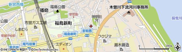 福栄寺周辺の地図