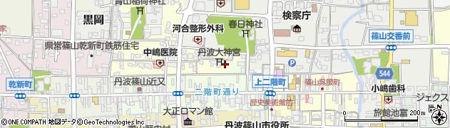 丹波大神宮周辺の地図