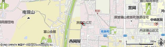 兵庫県丹波篠山市乾新町周辺の地図