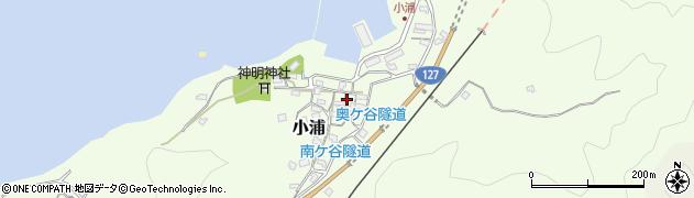千葉県南房総市小浦周辺の地図