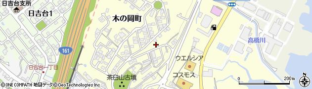 滋賀県大津市木の岡町周辺の地図