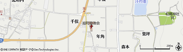 京都府亀岡市旭町(年角)周辺の地図