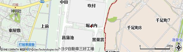 愛知県みよし市打越町(堀ノ内)周辺の地図