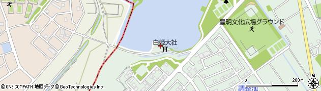 白姫神社周辺の地図
