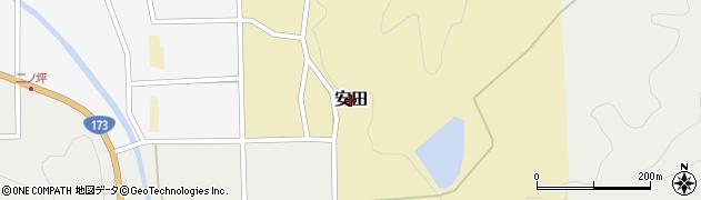 兵庫県丹波篠山市安田周辺の地図
