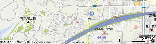 岡山県津山市小原周辺の地図