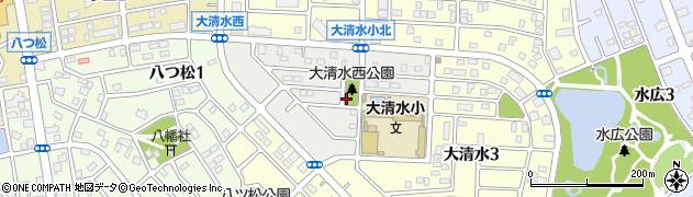 愛知県名古屋市緑区大清水西周辺の地図