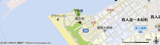 島上寺周辺の地図