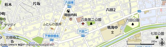 愛知県名古屋市緑区六田周辺の地図