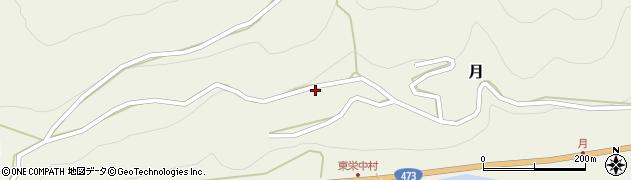 愛知県北設楽郡東栄町月西平ノ周辺の地図