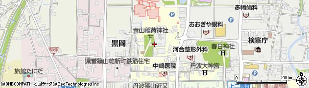 兵庫県丹波篠山市山内町周辺の地図