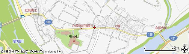 滋賀県東近江市永源寺高野町周辺の地図