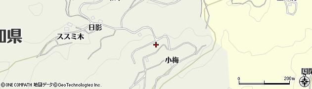 愛知県豊田市上脇町(萩田)周辺の地図