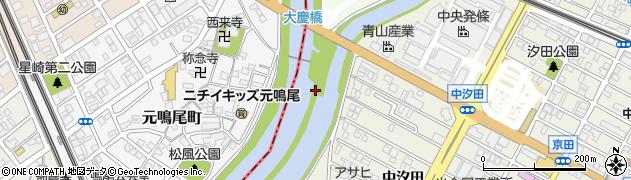 愛知県名古屋市緑区鳴海町(天白川内)周辺の地図