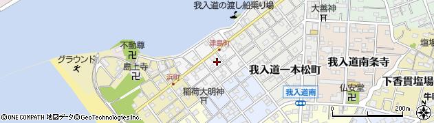 静岡県沼津市我入道津島町周辺の地図