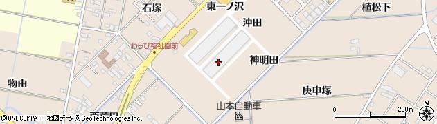 愛知県みよし市三好町(沖田)周辺の地図