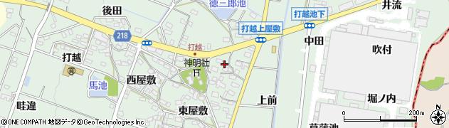 愛知県みよし市打越町(上屋敷)周辺の地図