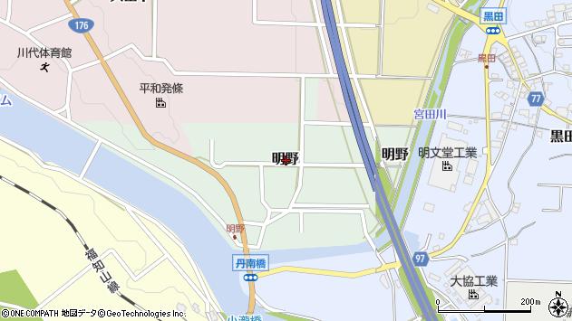 〒669-2822 兵庫県丹波篠山市明野の地図