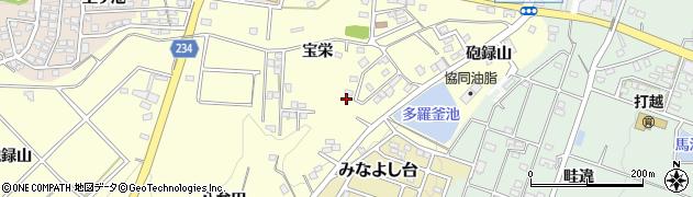 愛知県みよし市明知町(砲録山)周辺の地図