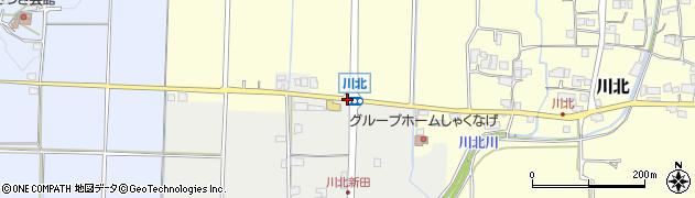 川北周辺の地図