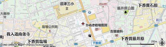静岡県沼津市下香貫周辺の地図
