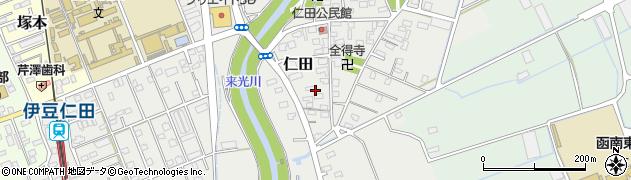 静岡県田方郡函南町仁田周辺の地図