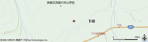 愛知県北設楽郡東栄町下田野中周辺の地図