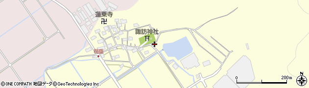 滋賀県東近江市稲垂町周辺の地図