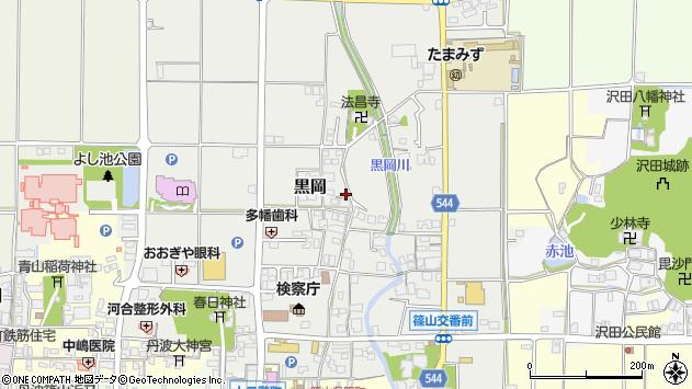 〒669-2321 兵庫県丹波篠山市黒岡の地図